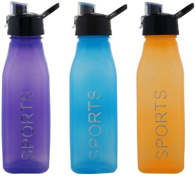 Aarushi Sports Flip Top 500 ml Bottle(Pack of 3, Multicolor)