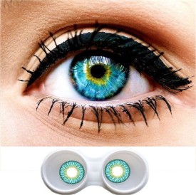 Magjons Sexy Turquoise Monthly Contact Lens(0, Turquoise, Pack of 2)