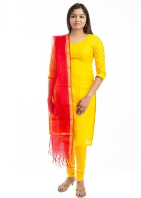 Lodestone Chanderi Checkered Women's Dupatta at flipkart