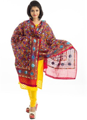 Lodestone Cotton Embroidered Women's Dupatta at flipkart
