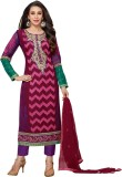 Ladyview Georgette Embroidered Semi-stit...