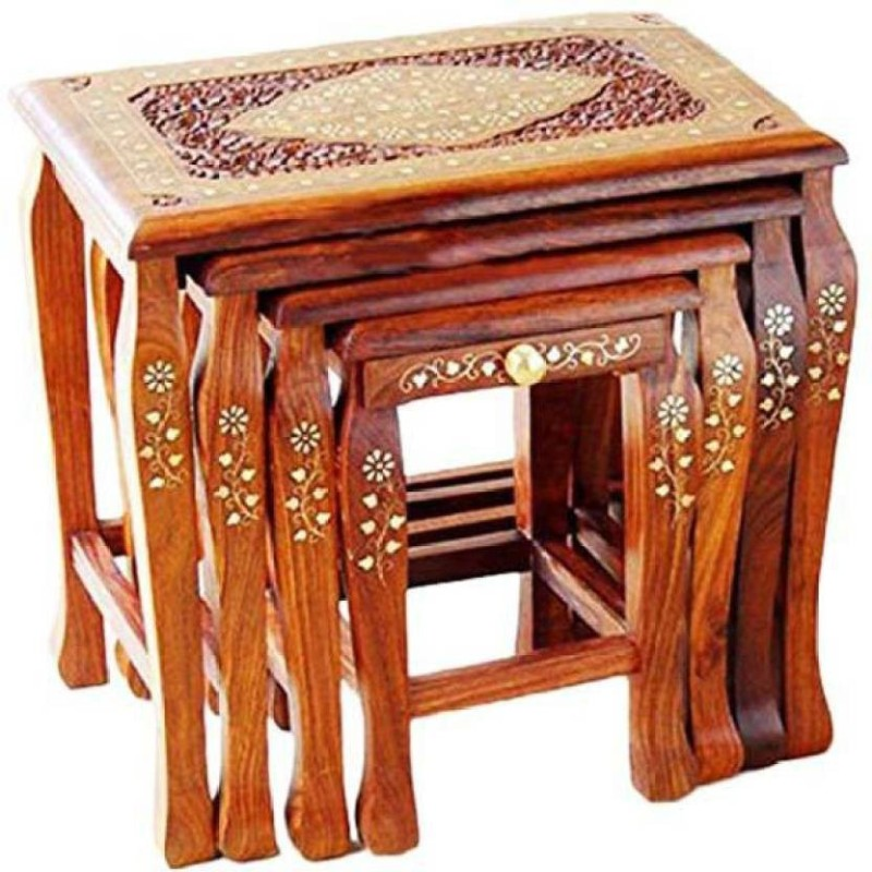 Khan Handicrafts k23 Hospital Food Stool(Wooden)
