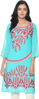 Bgs Women's Clothing - BGS Festive & Party Embroidered Women's Kurti(Multicolor)