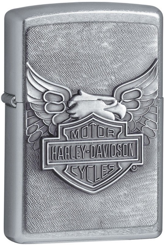Zippo 20230 Harley Davidson Iron Eagle Pocket Lighter(Chrome Silver)