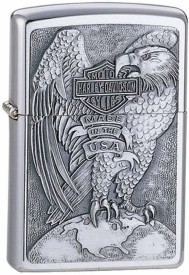 Zippo 200HD.H231 Harley Davidson 'Eagle and Globe' Pocket Lighter(Chrome Silver)