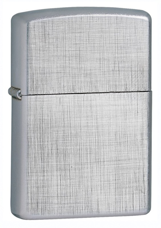 Zippo 28181 Classic Linen Weave Brushed Pocket Lighter(Chrome Silver)