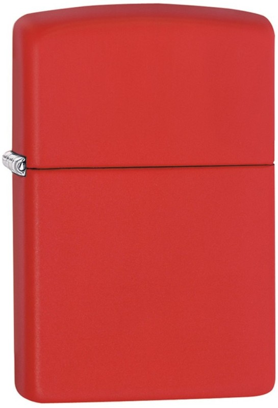 Zippo 233 Classic Plain Pocket Lighter(Red Matte)