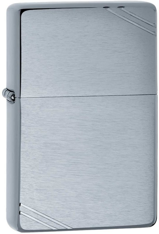Zippo 230 REPLICA Vintage Brushed Pocket Lighter(Chrome Silver)