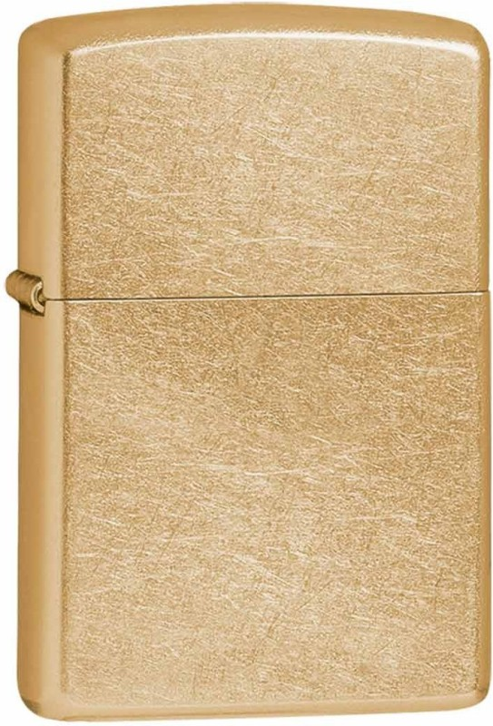 Zippo 207G Classic Plain Gold Dust Brass Pocket Lighter(Gold)