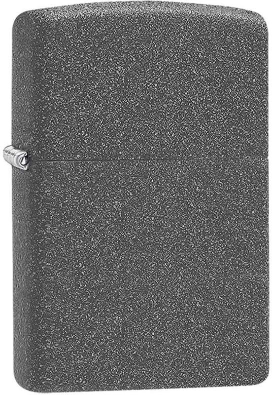 Zippo 211 Classic Plain Iron Stone Pocket Lighter(Black)