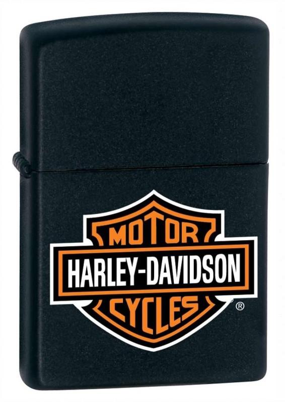 Zippo 218HD.H252 Harley Davidson Logo Pocket Lighter(Black Matte)