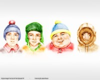 TV Show South Park Stan Marsh Kyle Broflovski Eric Cartman Kenny McCormick HD Wall Poster Paper Print