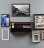 Furniselan Teak Finish Wooden Wall Shelf...