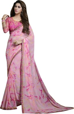 Shaily Retails Printed Fashion Georgette Saree(Multicolor) at flipkart