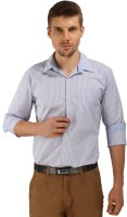 Formal Shirts (Men's) - Bombay Casual Jeans Men's Striped Formal Blue, White Shirt