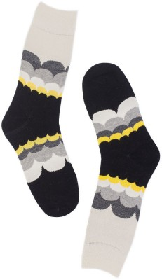 The Tie Hub Mens Self Design Mid-calf Length Socks