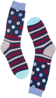 The Tie Hub Mens Polka Print Mid-calf Length Socks