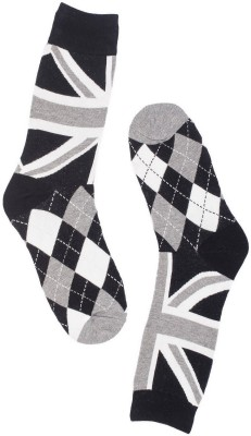 The Tie Hub Mens Checkered Mid-calf Length Socks
