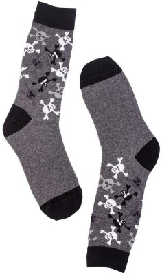 The Tie Hub Mens Printed Mid-calf Length Socks