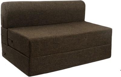 Springtek Sofa Cum Bed Foam Single Sofa Bed(Finish Color - Brown Mechanism Type - Fold Out)
