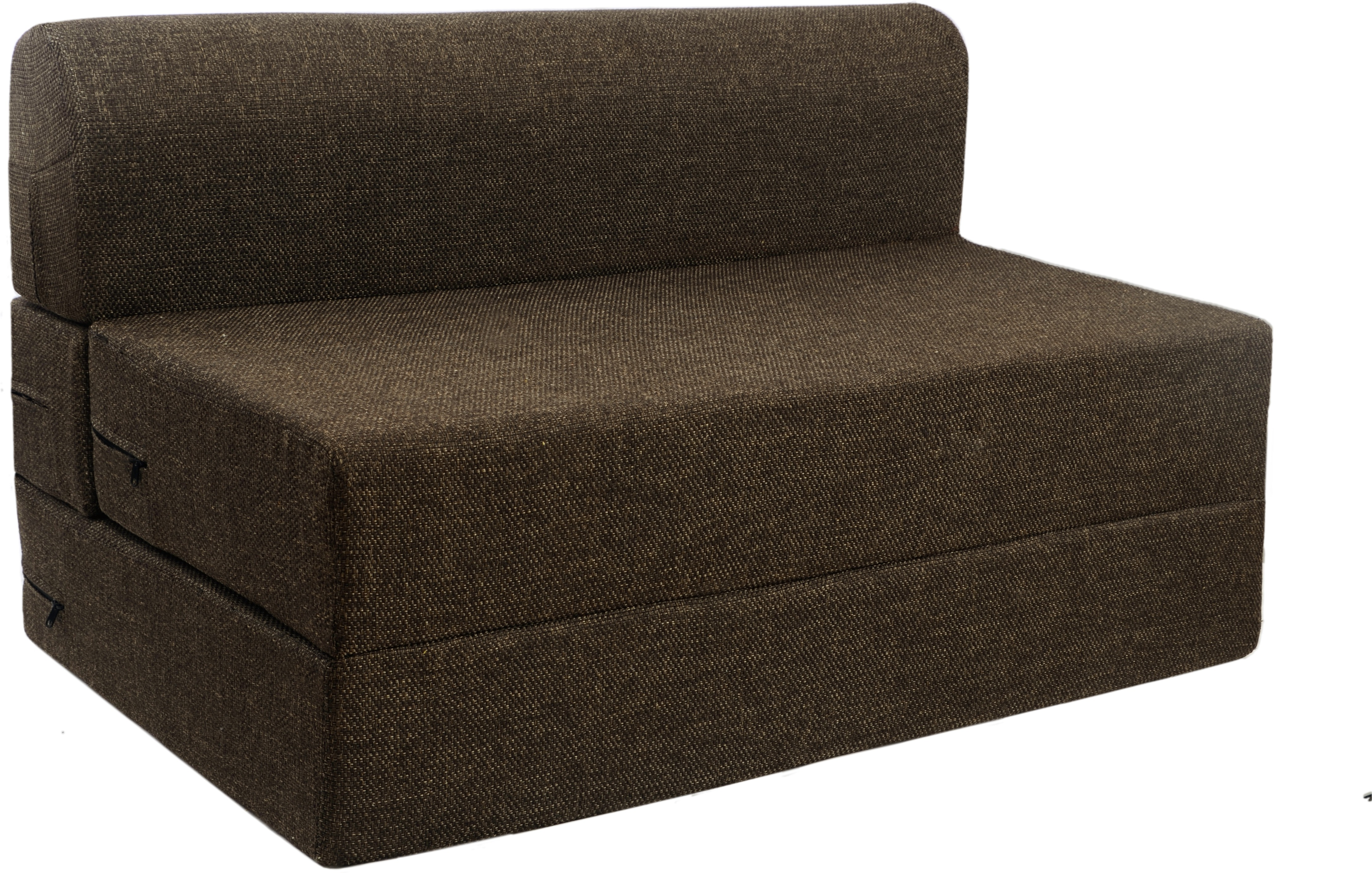 Springtek Sofa Cum Bed Foam Single Sofa Bed(Finish Color - Brown Mechanism Type - Fold Out)