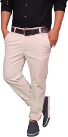 KushSection Regular Fit Men's White Trousers
