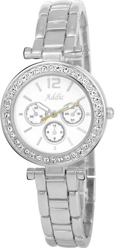 Addic Gorgeous Collection Luxury Silver Chain Analog Watch For