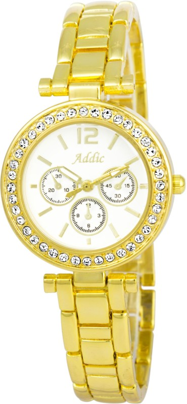 Addic Gorgeous Collection Luxury Gold Chain Analog Watch For W