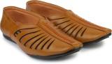 Shoetopia Men Tan Sandals