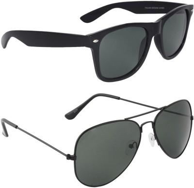 Zyaden COM585 Wayfarer Sunglasses(Black, Black)