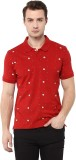 DC Comic Printed Men's Polo Neck Red T-S...
