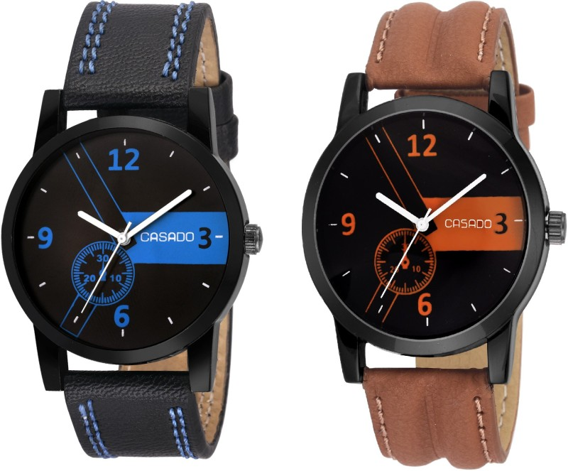Casado 172x160 Multi Colour Dial BoyS And MenS Watch Combo Of 2