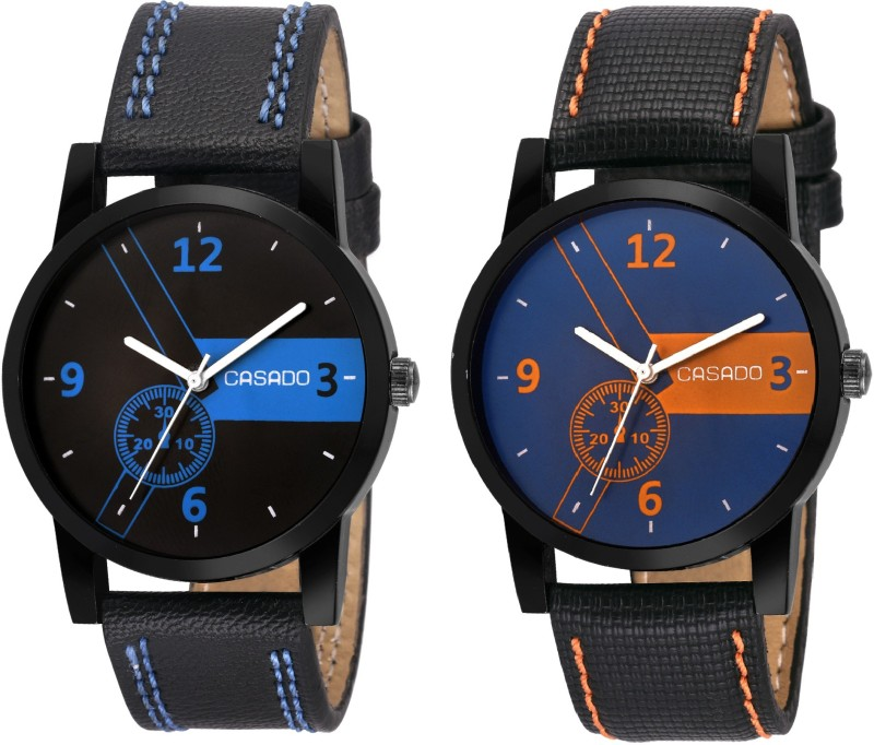 Casado 172x173 Multi Colour Dial BoyS And MenS Watch Combo Of 2