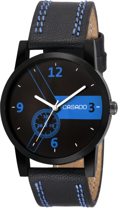 Casado 173 Multi Colour Series Round Casual Analog Black Leather