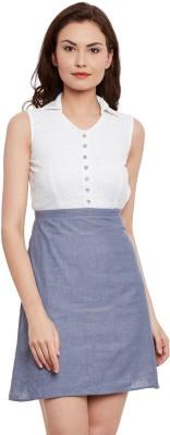 The Vanca Women's Fit and Flare Blue Dress at flipkart