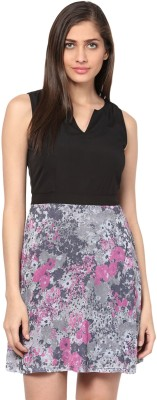 The Vanca Women's Fit and Flare Multicolor Dress at flipkart