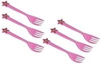 Funcart Barbie Fork ( 6 pcs/pack) Disposable Plastic Table Fork, Baby Fork, Salad Fork, Fruit Fork Set