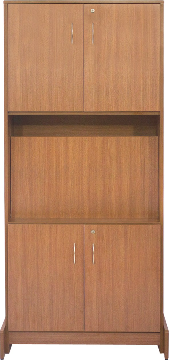 View Woodpecker Engineered Wood Study Table(Free Standing, Finish Color - BROWN) Furniture (Woodpecker)
