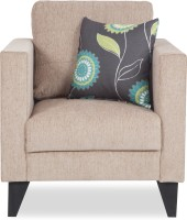 Urban Living Greenwich Solid Wood 1 Seater Standard(Finish Color - Beige)
