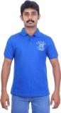Ardeur Solid Men's Polo Neck Blue T-Shir...