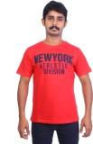 Ardeur Printed Men's Round Neck Red T-Sh...
