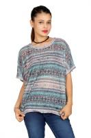 Fashion Stylus Women's Clothing - Fashion Stylus Casual Short Sleeve Printed Women's Multicolor Top
