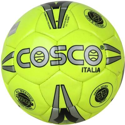 Cosco Italia Football - Size: 3(Pack of 1, Silver, Green, Black)