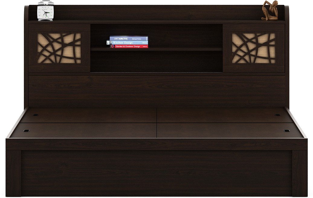 View Spacewood Engineered Wood King Bed With Storage(Finish Color -  Vermount) Furniture (Spacewood)