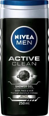 Nivea Active Clean Shower Gel(250 ml, Pack of 1)