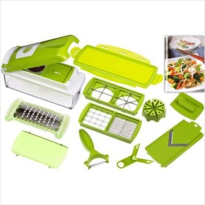 Telebrands Vegetables & Fruits Slicer Nicer Dicer Plus Chopper(Green) at flipkart