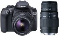 Canon 1300D DSLR Camera With Sigma 70 - 300 mm F4-5.6 DG Macro for Canon Digital SLR Lens