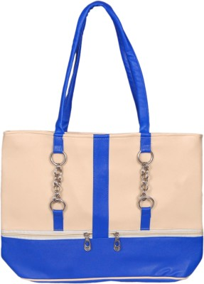 3ng Hand-held Bag(White, Blue)