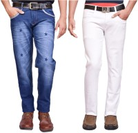 British Terminal Jeans (Men's) - British Terminal Slim Men's White Jeans(Pack of 2)