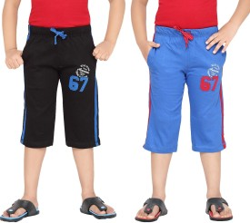 Greenwich Three Fourth For Boys(Multicolor Pack of 2)